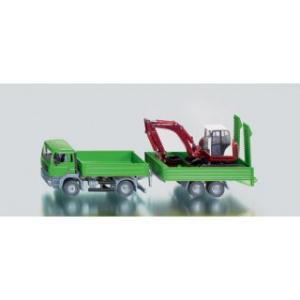 Camion MAN si excavator 1:55 - Siku