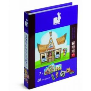 Carte puzzle magnetic - Case din toata lumea - Janod
