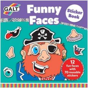 Carte cu abtibilduri Funny Faces - Galt