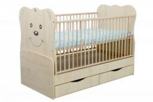 Patut Transformabil MYKIDS Teddy Natur Cu Leg 4834 - My Kids