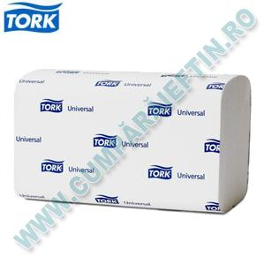 Servetele albe pliate zigzag pentru dispenser Tork