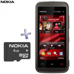 Telefon mobil Nokia 5530 XpressMusic Black-Red + card 4 GB