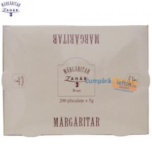 Zahar brun pliculete Margaritar 200 buc x 5 gr