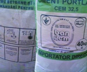 Ciment tip A Portland - 21.5 ron per sac!