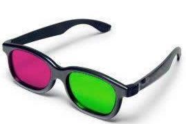 Ochelari 3d green magenta plastic