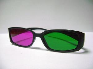 Ochelari 3d green-magenta CLASIC cu rame si lentile din plastic