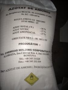 17 tone de azotat de amoniu, depozitate necorespunzător ...  |Azotat De Amoniu