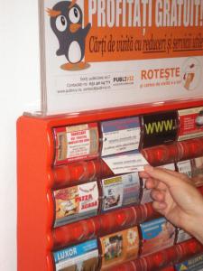 Publicitatea carti vizita