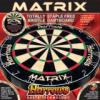 Matrix bristle dartboard
