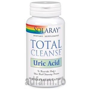 SOLARAY TOTAL CLEANSE URIC ACID 60CP