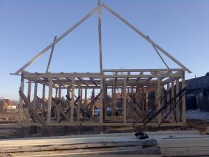 Schelet de lemn pt case de vacanta de lemn