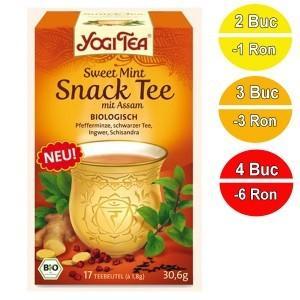 Ceai BIO aperitiv Menta dulce & Assam Yogi Tea® 30,6 g