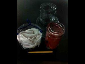 Cutii plastic cilindrice textile