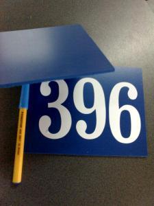 Placute cu numere pentru poarta