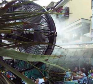 Climatizare terasa exterioara