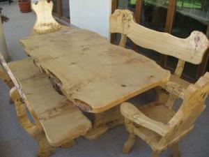 Masa lemn masiv pentru gradina