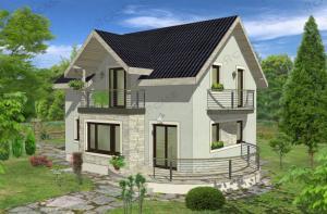 Cheia casa lemn prefabricat