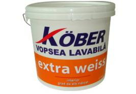 Vopsea lavabila pentru interior Extra Weiss KOBER - 4 L