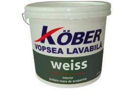 Vopsea lavabila pentru interior Weiss KOBER - 15 L, Amorsa la 3 L inclusa in pret