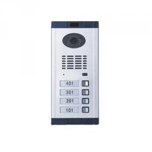 Videointerfon de exterior Genway CM-02NE-C 1*4, 4 familii, ingropat, vila