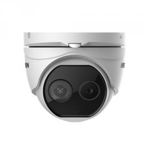 Camera supraveghere termica IP de exterior Hikvision DeepinView DS-2TD1217-2/V1, 2MP, 15 m, functii smart