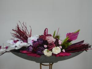 Aranjament din flori natural uscate