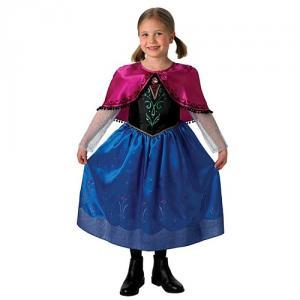Costum De Carnaval Anna Deluxe Din Frozen ( Regatul De Gheata)