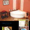 Cada de baie pe colt Nausica  W 140x140x58; Garantie 15 ani