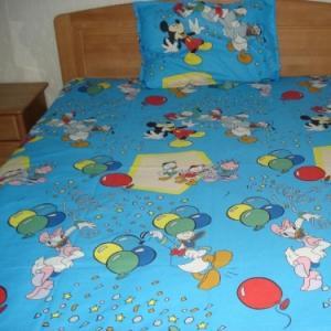 Lenjerii de pat copii Mickey, Donald, Daisy albastru HSL1765