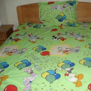 Lenjerii de pat copii Mickey, Daisy, Donald verde HSL1109
