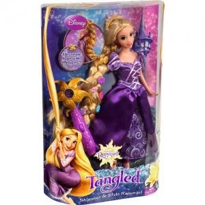 Rapunzel cu par impletit si cu accesoriu de aplicat floricele in par