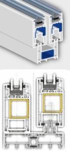 Sistem pentru usi glisante