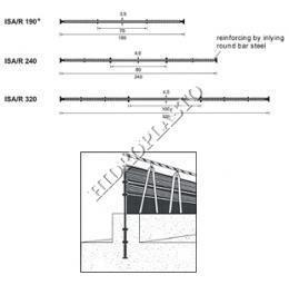Profile hidroizolante interne cu bara otel rotunda interioara-stabilizare
