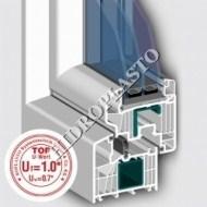 Profile ferestre si usi PVC cu geam Termopan- 7001