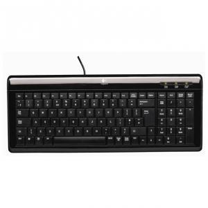 Tastatura LOGITECH UltraFlat, USB/PS2