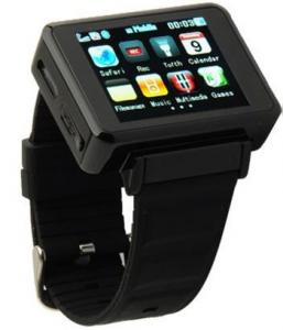 WATCH Mobile K1 Sport: Telefon in forma de CEAS -negru