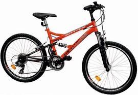 Bicicleta mountain bike full suspension 2445 Matrix 21 viteze, copii 8-11 ani