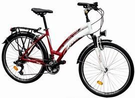 Bicicleta aluminiu trekking dama DHS 2664  21 viteze model 2012