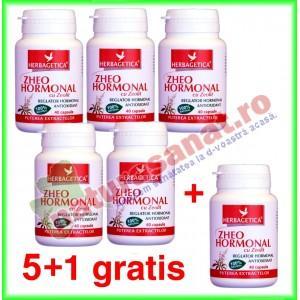Zheo Hormonal 40 capsule PROMOTIE 5+1 gratis - Herbagetica