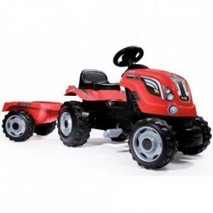 Tractor cu Pedale si remorca Smoby Farmer XL - Rosu