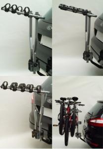 Suport 3 Biciclete Peruzzo Arezzo cu prindere pe carligul de remorcare