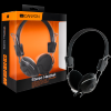 Black,canyon headset , 20hz-20khz, ext. microphone, cable integrated