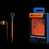 Canyon fashion earphones, flat anti-tangling cable, orange
