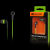 Canyon fashion earphones, flat anti-tangling cable, green