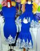 Set rochii mama-fiica betty cu dantela alba