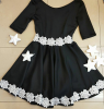 Rochie star black and white