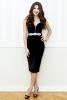 Rochie neagra din catifea cu cupe -