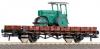 Vagon platforma cu asfaltator ho, roco 47786