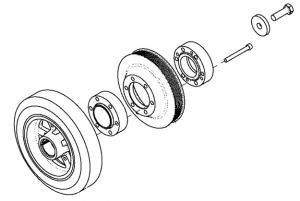 Fulie Motor/Arbore/Vibrochen John Deere