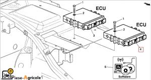 Calculator Motor Stage II, (ECU, LEVEL 14/16) John Deere RE531808